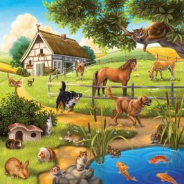 RAVENSBURGER - Domácí Zvířata 3 X 49D