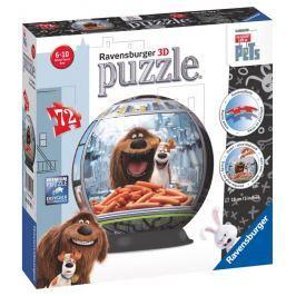 RAVENSBURGER - Tajný život mazlíčků puzzleball 72 dílků
