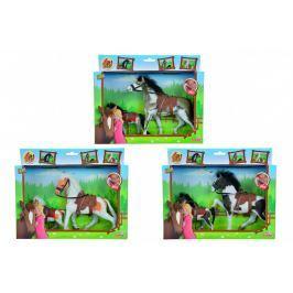 SIMBA - Kůň Beauty Pferde Set, 11 A 19 Cm, 3 Druhy