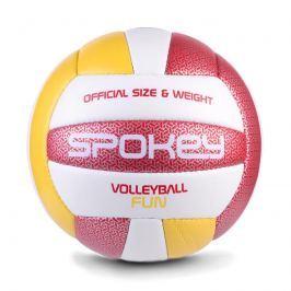 SPOKEY - FUN IV volejbalový míč červeno-žlutý