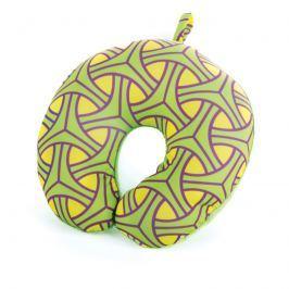 SPOKEY - SKYWAY Cestovní polštářek mikrokuličky zelený