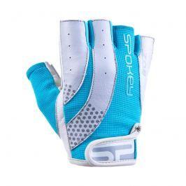 SPOKEY - ZOE II Dámské Fitness rukavice bílo-tyrkysové vel. L