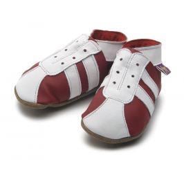 Starchild - Kožené botičky - Sporty Red / White - velikost M (6-12 měsíců)