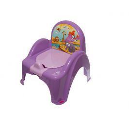 TEGA BABY - Nočník křesílko s melodií Safari - fialový