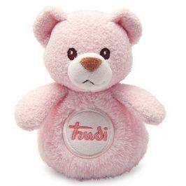 TRUDI - Mini plyšák se zvuky Medvídek - růžový