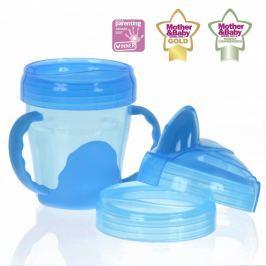 VITAL BABY - Dětský výukový 3 dílný hrnek 200 ml, modrý