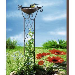 Mřížka na rostliny s pítkem pro ptáky