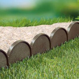 Zahradní obrubník - palisáda hnědá,10 m