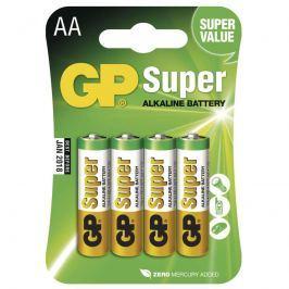 Alkalická baterie GP Super LR6 (AA), 4 ks