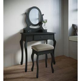 Toaletní stolek Lunawina, černý