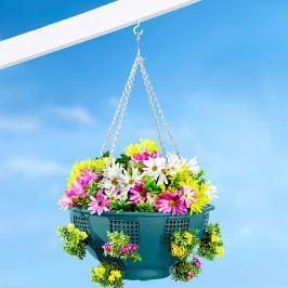 Závěsný květináč s bočními otvory