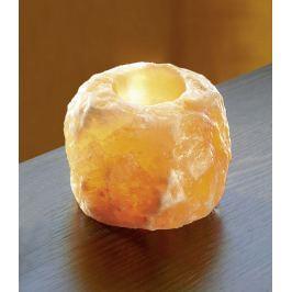 Svícen ze solného krystalu - přírodní