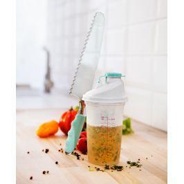 Salátový shaker + salátový nůž, sada 2 ks