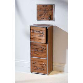 Skříňka New York dřevěná, 3 oddíly