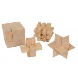 Sada dřevěných hlavolamů Lifetime, 4 kusy