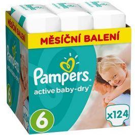 PAMPERS Active Baby-Dry vel. 6 Extra Large (124 ks) - měsíční balení