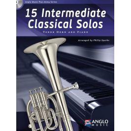 Hal Leonard 15 Intermediate Classical Solos Tenor Horn, Piano Noty pro dechové nástroje