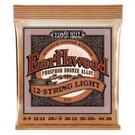 Ernie Ball 2153 Earthwood 12-String Light Phosphor Bronze Acoustic 12-strunné sady