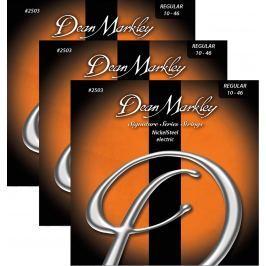 Dean Markley 2503-3PK REG 10-46 NickelSteel Electric - 3 Pack