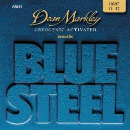 Dean Markley 2034 LT 11-52 Blue Steel Acoustic Struny pro akustickou kytaru .011
