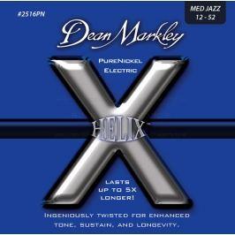 Dean Markley 2516PN MEDJAZZ 12-54 Helix PureNickel Struny pro elektrickou kytaru .012