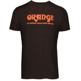 Orange Classic Brown T-Shirt Medium Muzikantské oblečení