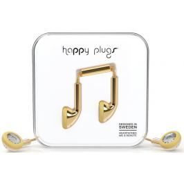 Happy Plugs Earbud Gold Deluxe Edition Malá sluchátka do uší