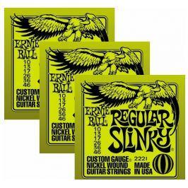 Ernie Ball 3221 Nickel Slinky Electric Guitar Strings 3-Pack Struny pro elektrickou kytaru .010