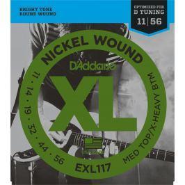 D'Addario EXL117 Struny pro elektrickou kytaru .011