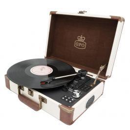 GPO Retro Ambassador Cream/Tan Gramofony
