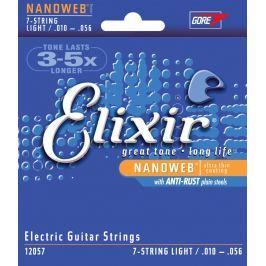 Elixir 12057 7-String Electric Nanoweb Nickel Light