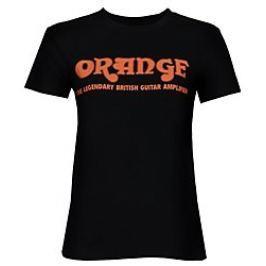 Orange Classic Ladies Black T-Shirt Large