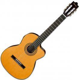 Ibanez GA6CE Cutaway Classic Guitar Amber High Gloss
