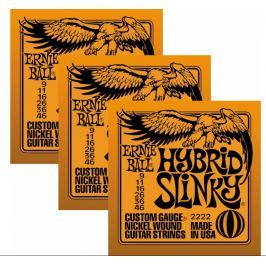 Ernie Ball 3222 Nickel Hybrid Slinky Electric Guitar Strings 3-Pack