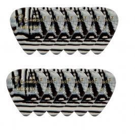 Fender 351 Shape Premium Picks Medium Zebra 12 Count