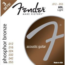 Fender 60L Acoustic Phosphor Bronze 12-53 3 Pack