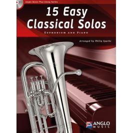 Hal Leonard 15 Easy Classical Solos Bb/C Euphonium TC/BC