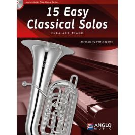 Hal Leonard 15 Easy Classical Solos Tuba and Piano