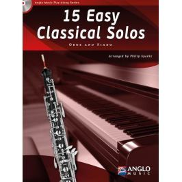 Hal Leonard 15 Easy Classical Solos Oboe and Piano