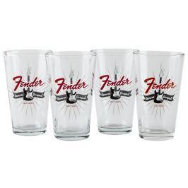 Fender Strat Burst Pint Glasses Set of Four