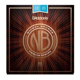 D'Addario NB1047-12 Nickel Bronze Acoustic, Light 12-String, 10-47