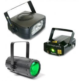 BeamZ Light Set 4 Laser LED Effect and Strobo
