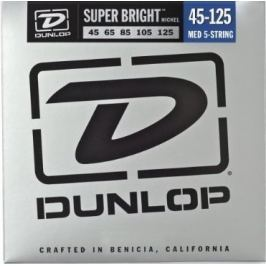 Dunlop DBSBN45125 Nickel Plated Bass Guitar Strings, Medium