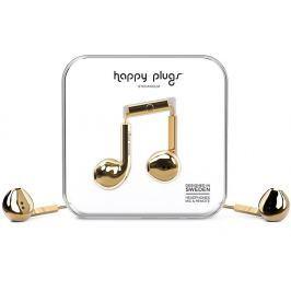 Happy Plugs Earbud Plus Gold Deluxe Edition Malá sluchátka do uší