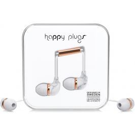 Happy Plugs In-Ear White Marble Rose Gold