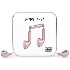 Happy Plugs Earbud Pink Gold Matte Deluxe Edition Malá sluchátka do uší