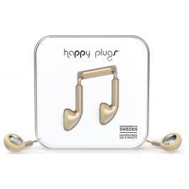 Happy Plugs Earbud Champagne Matte Deluxe Edition Malá sluchátka do uší