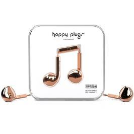 Happy Plugs Earbud Plus Rose Gold Deluxe Edition Malá sluchátka do uší