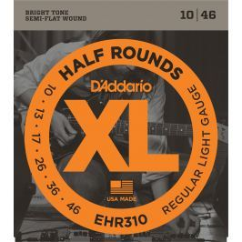 D'Addario EHR 310 Half Round Regular Light