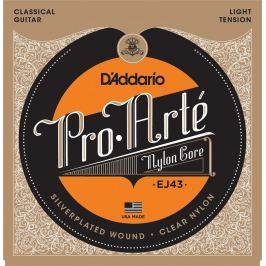 D'Addario EJ43 ProArte Laser Selected Nylon Trebles Light